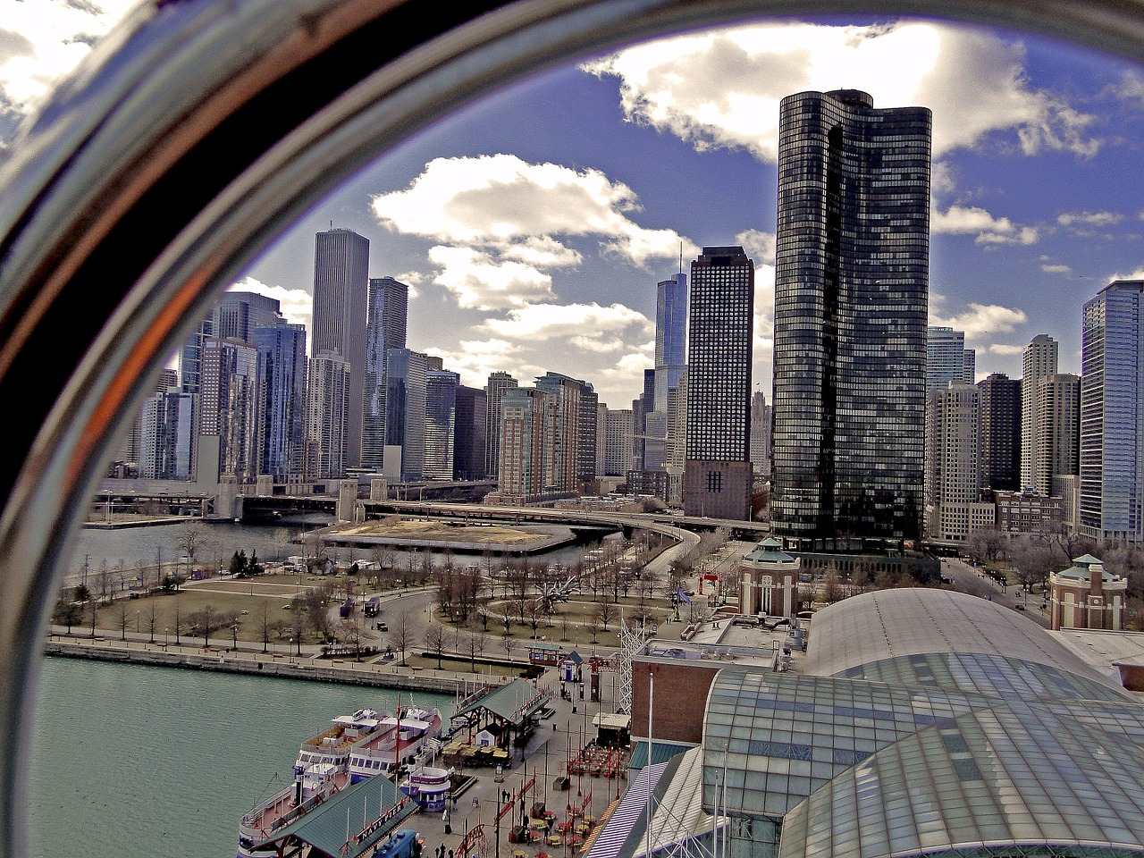 chicago city big city free photo