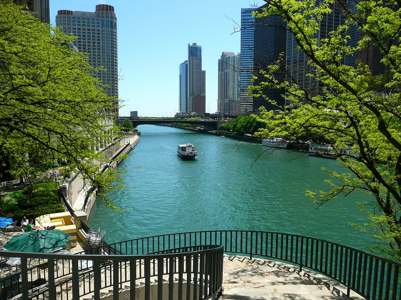 chicago river city free photo