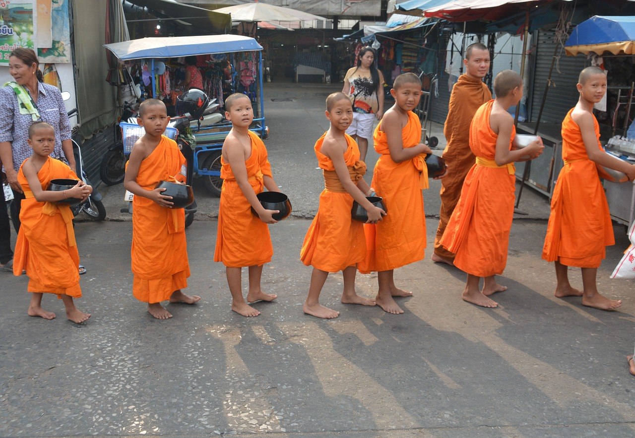 child monks monks thailand free photo