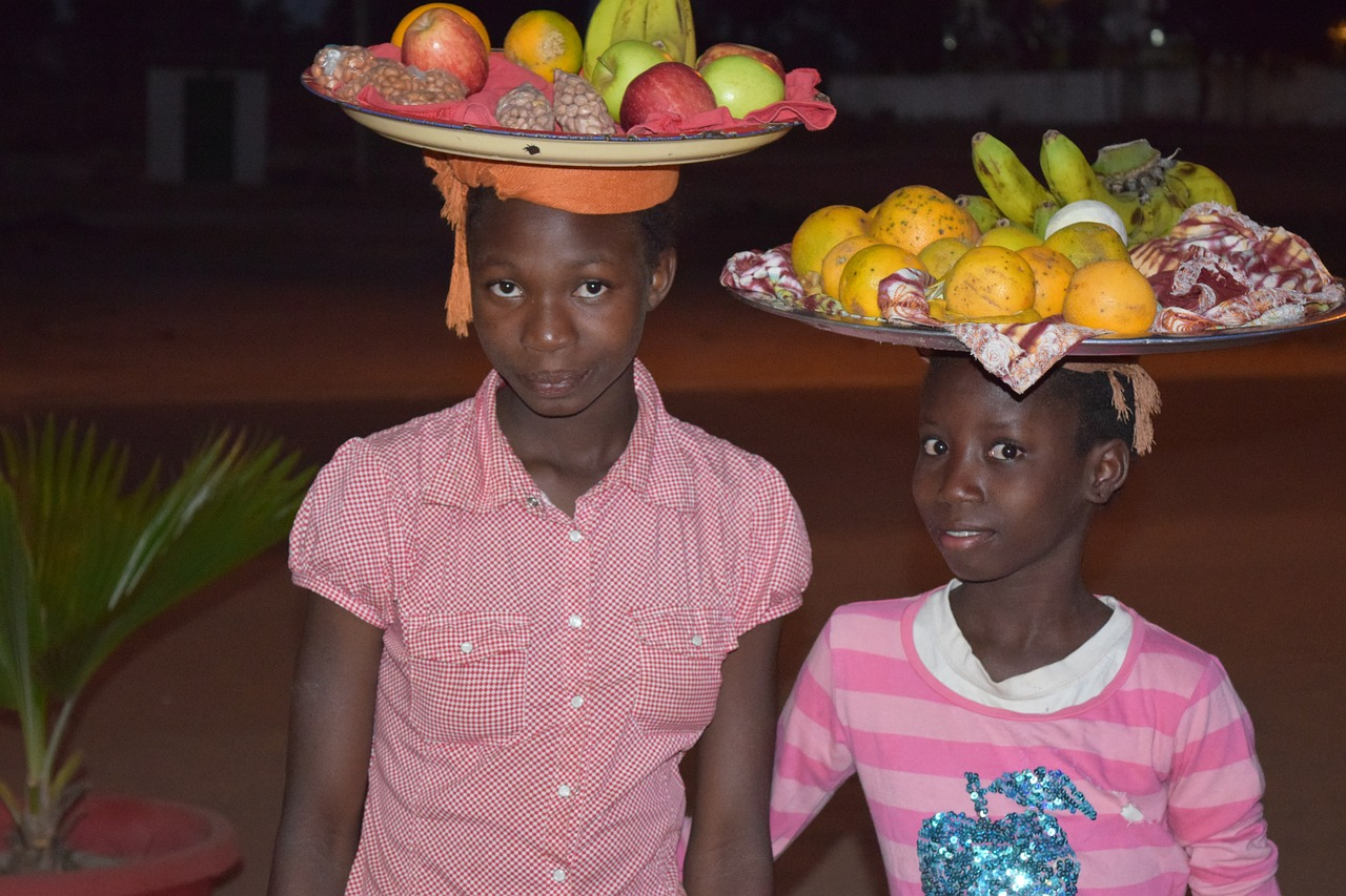 children fruit africa free photo