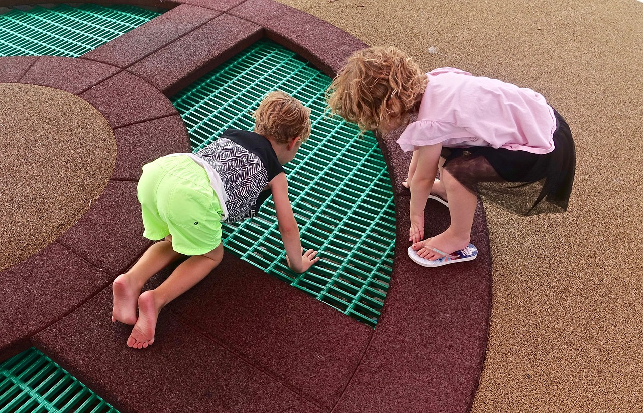 children exploring looking free photo