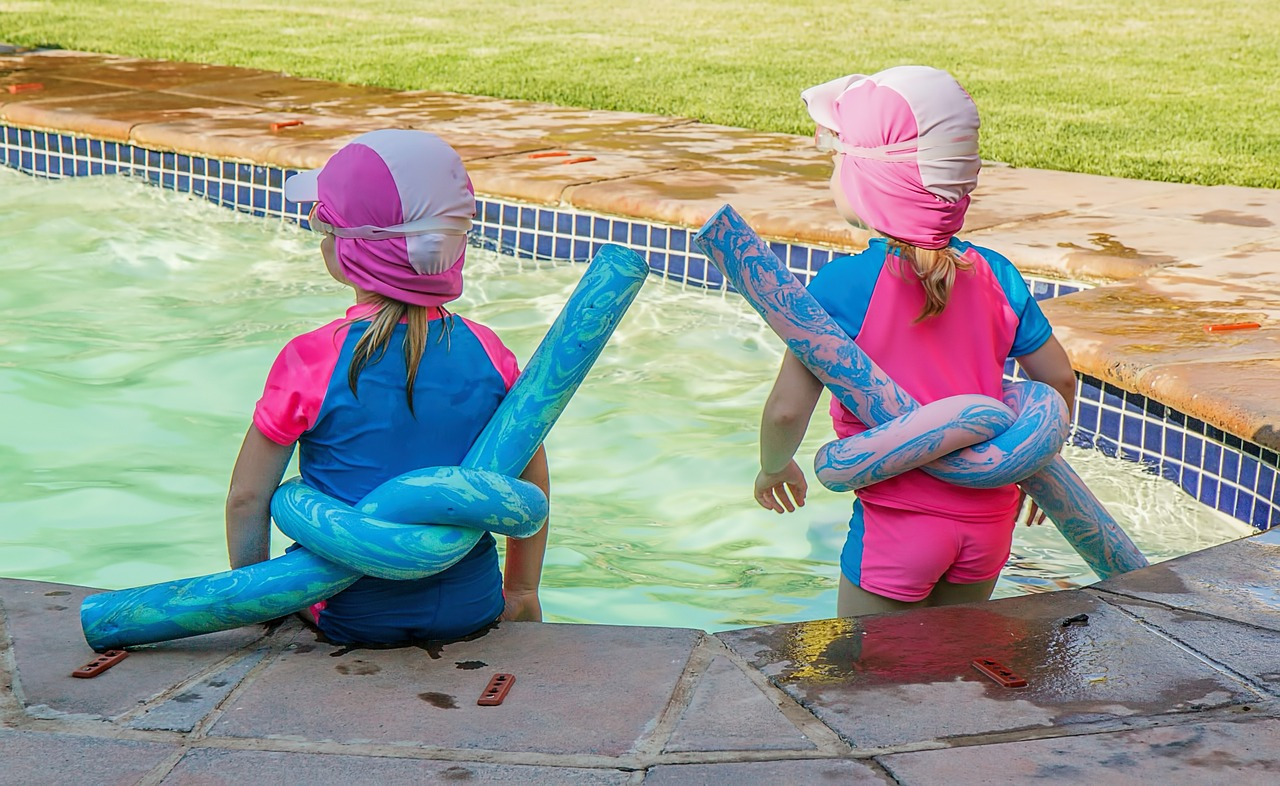 children pool playing free photo