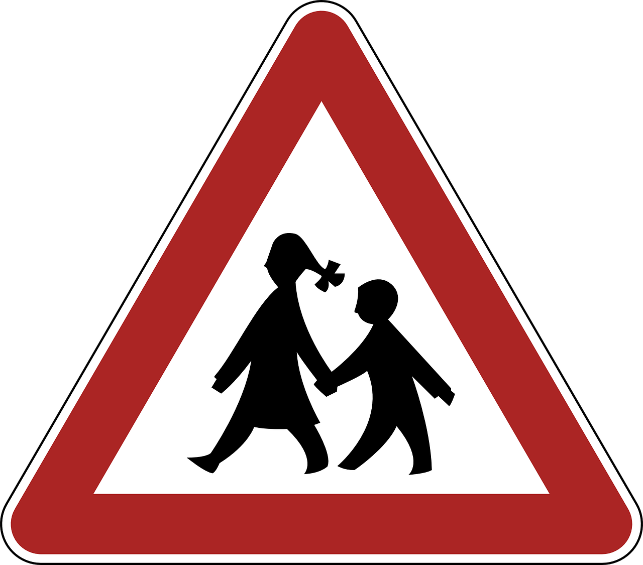 children,danger,warning,road sign,traffic,germany,regulatory,sign,symbol,transportation,free vector graphics,free pictures, free photos, free images, royalty free, free illustrations, public domain