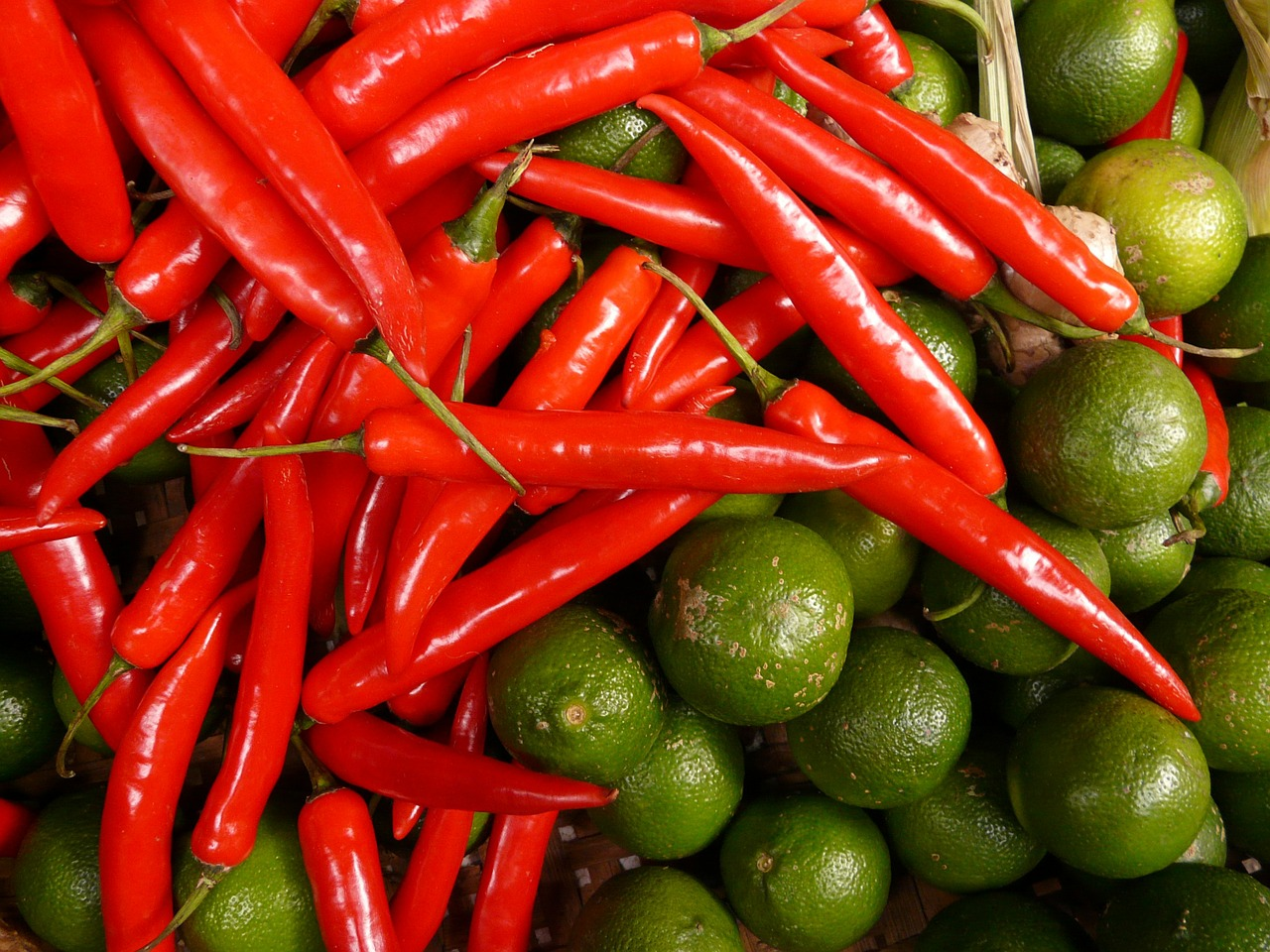 chili lime red green free photo