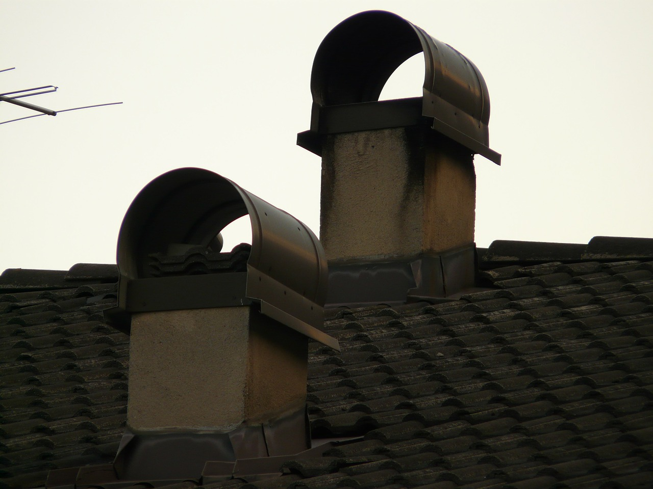 chimney fireplace roof free photo