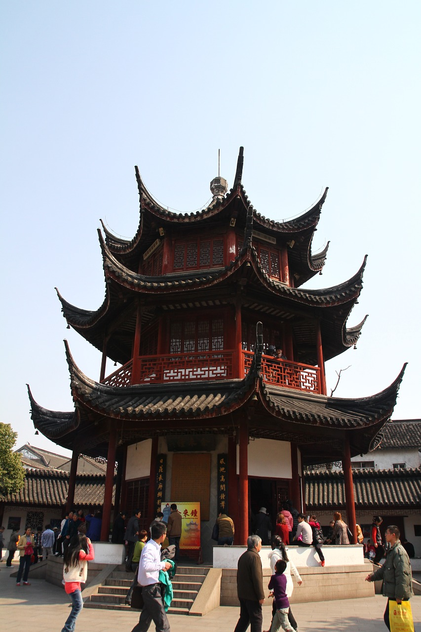 chinese ancient architecture the octagon the seven treasures free photo
