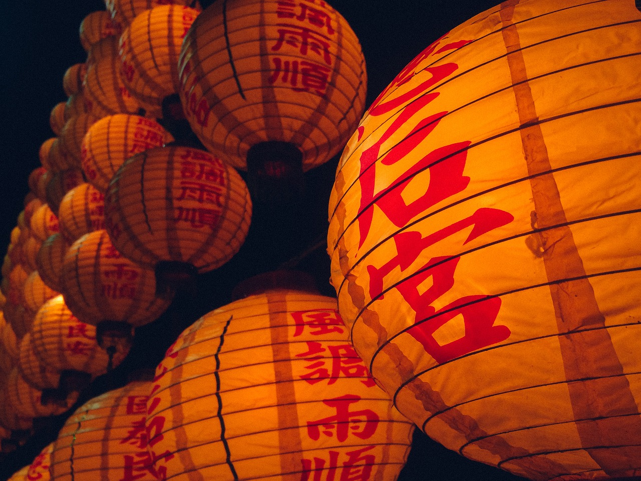 chinese lantern celebration chinese free photo
