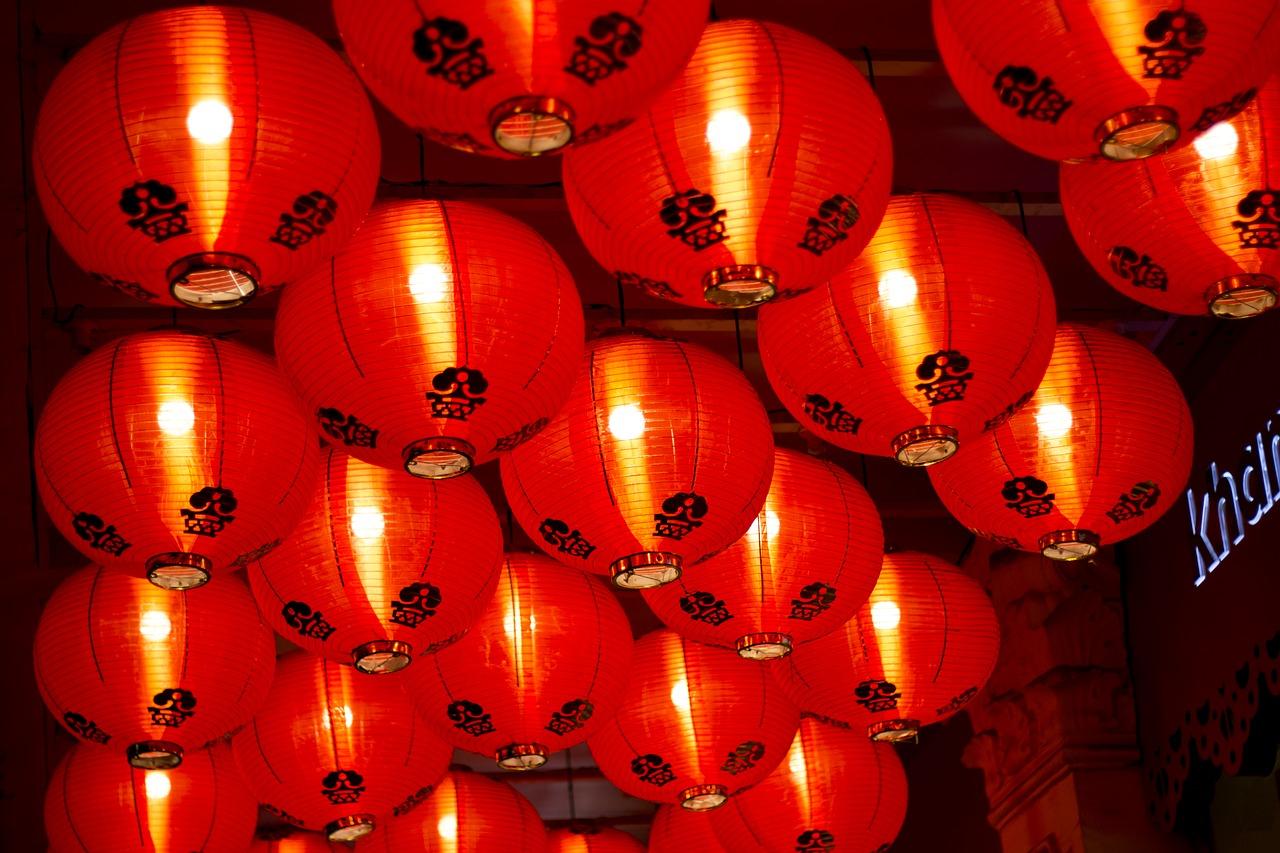 Chinese Lanterns Lights Light Lighting Street Free Image From Needpix Com