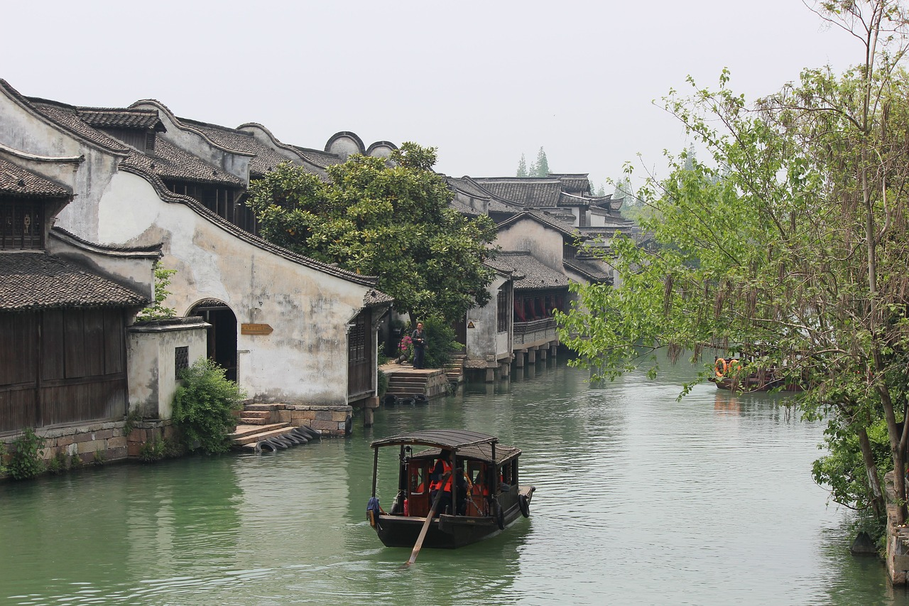 chinese waterway chinese homes chinese life free photo