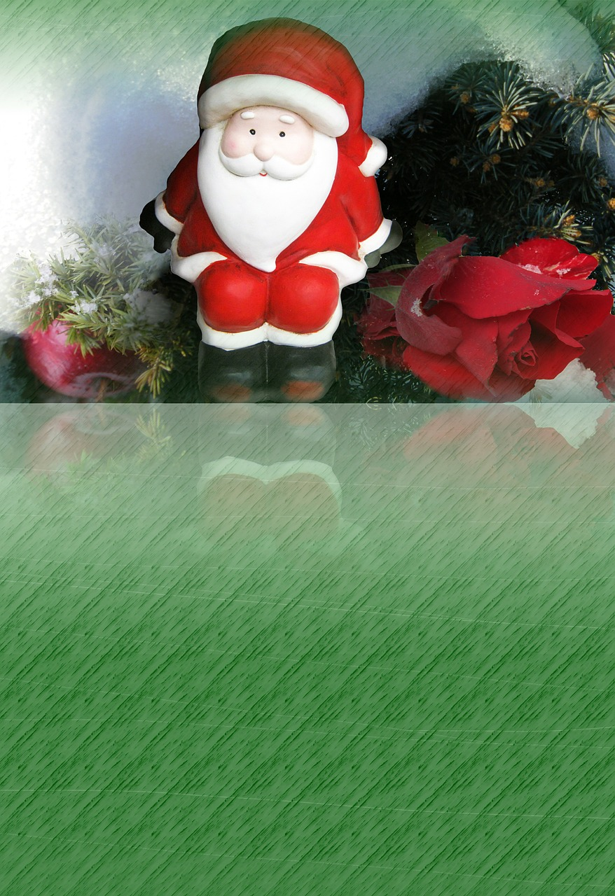 christmas santa claus background free photo