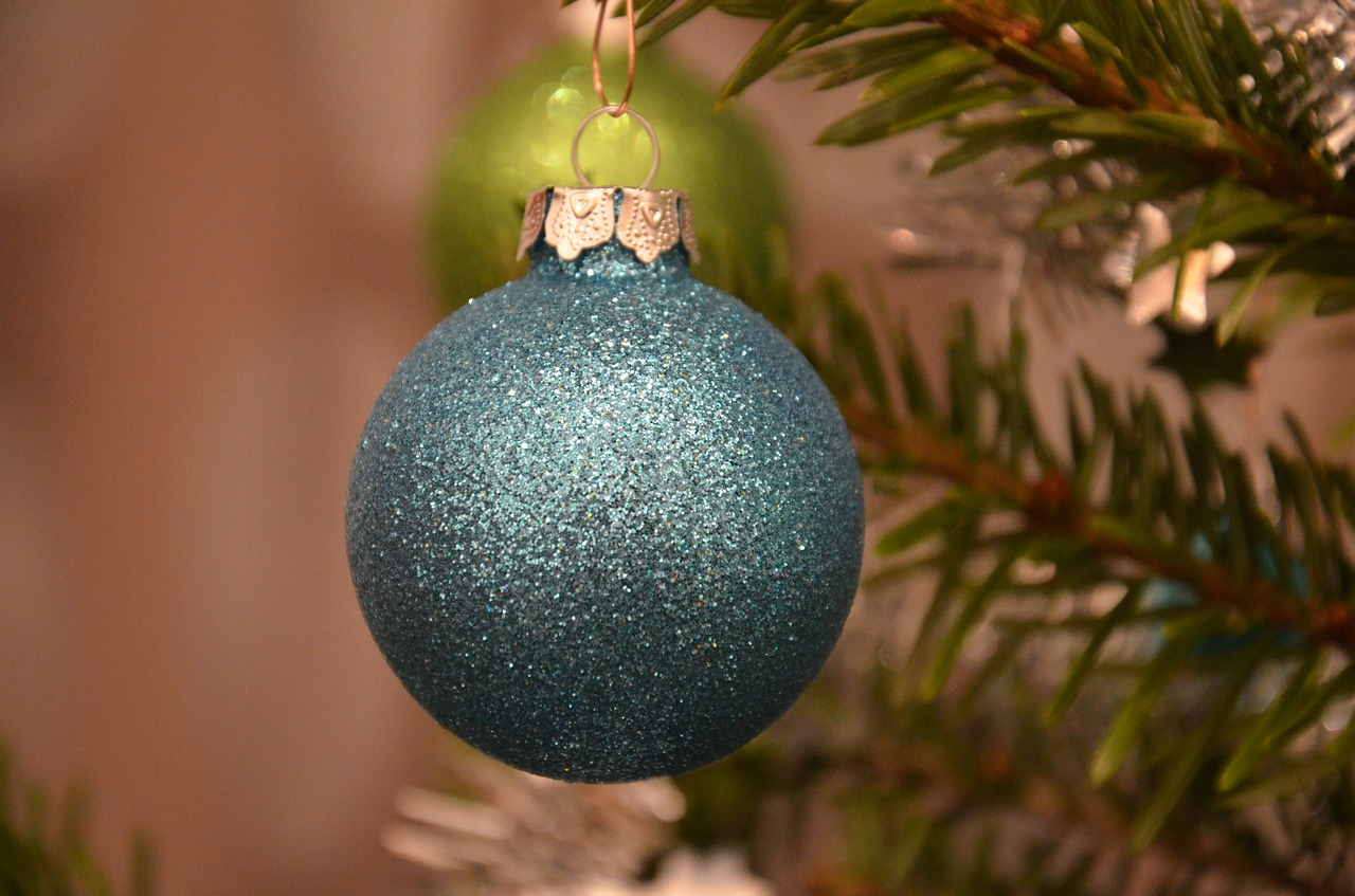 christmas bauble blue christmas ornaments free photo