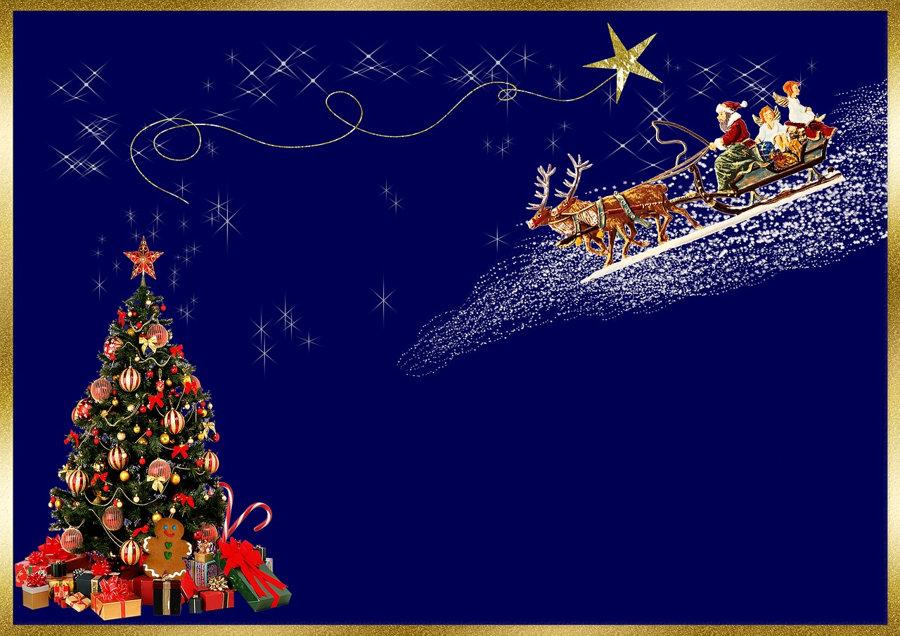 christmas cardbackground imagechristmas greetingbluegoldchristmas tree