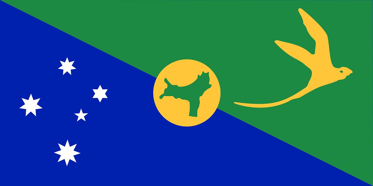 christmas island flag territory free photo