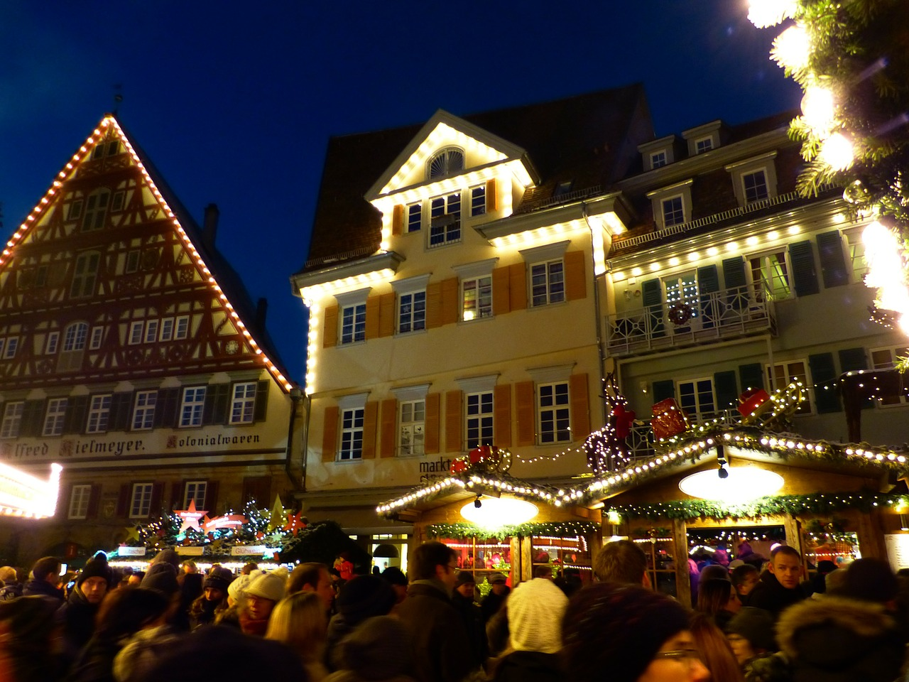 christmas market esslingen mood free photo