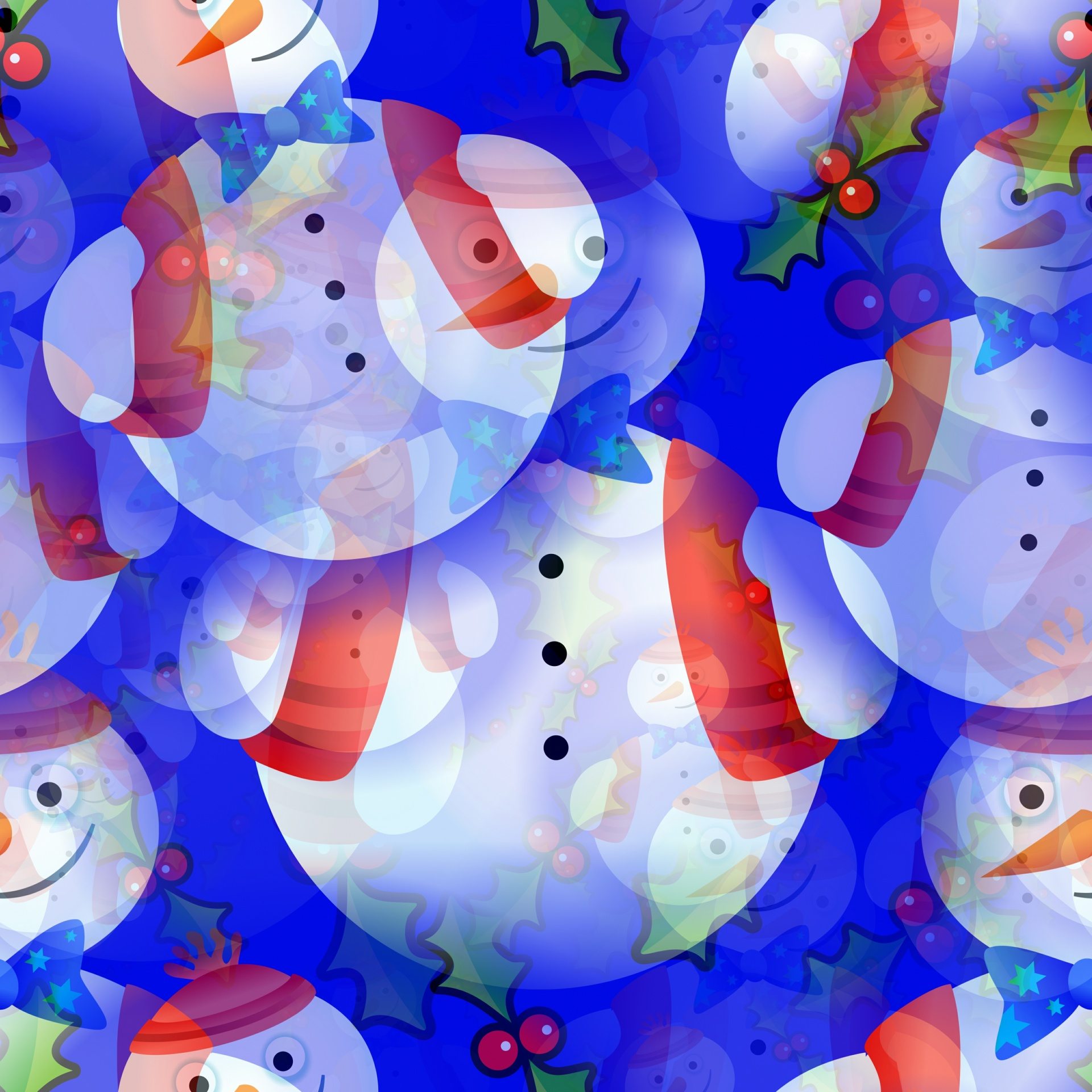 Christmas Holidays Seamless Pattern Wallpaper Free Image