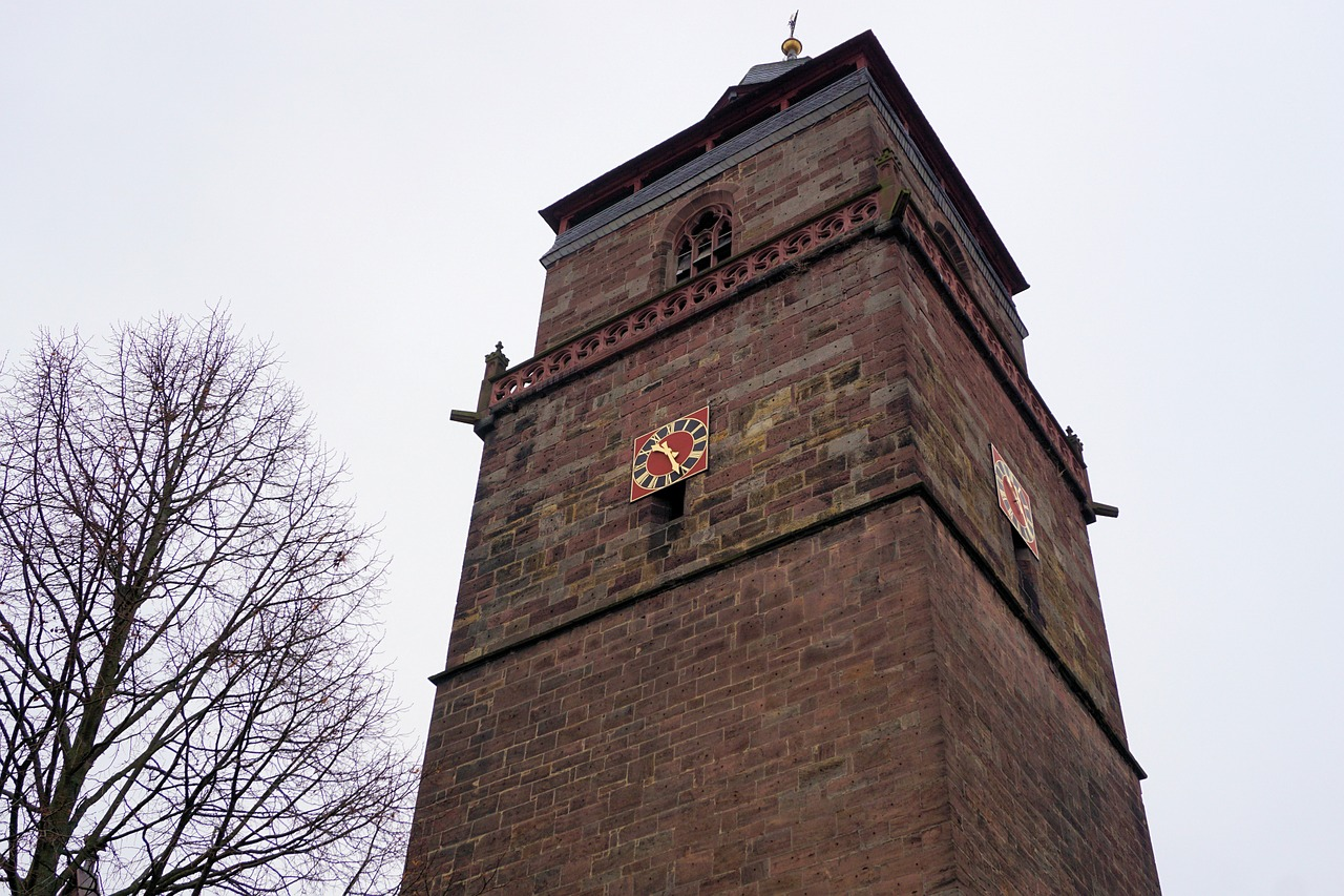 church tower clock tower free photo