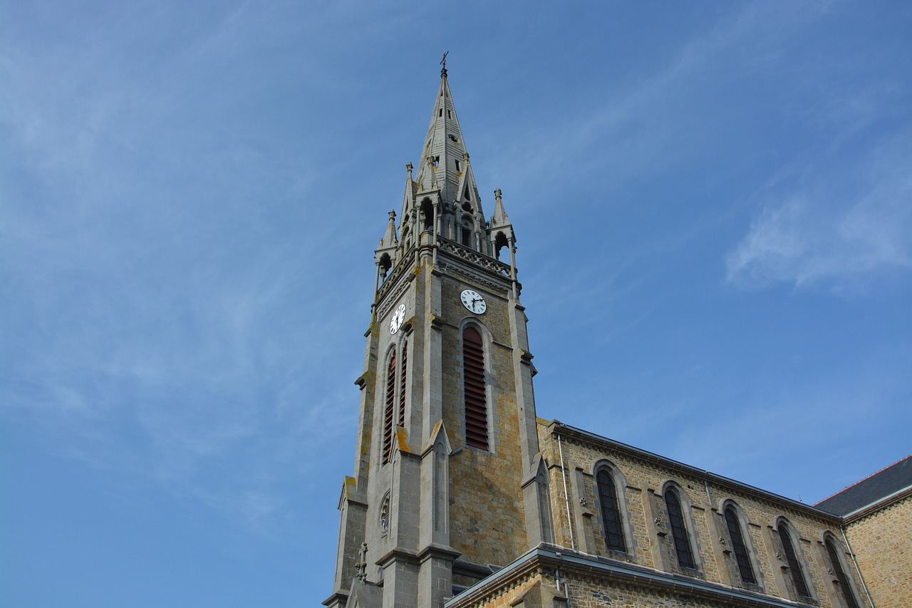 church tower profile sculpture stone free photo