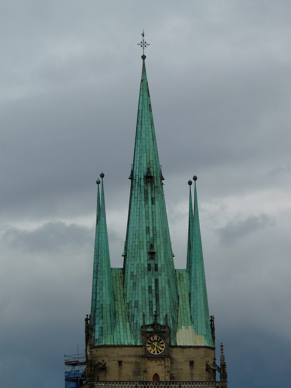 church steeple copper roof free photo