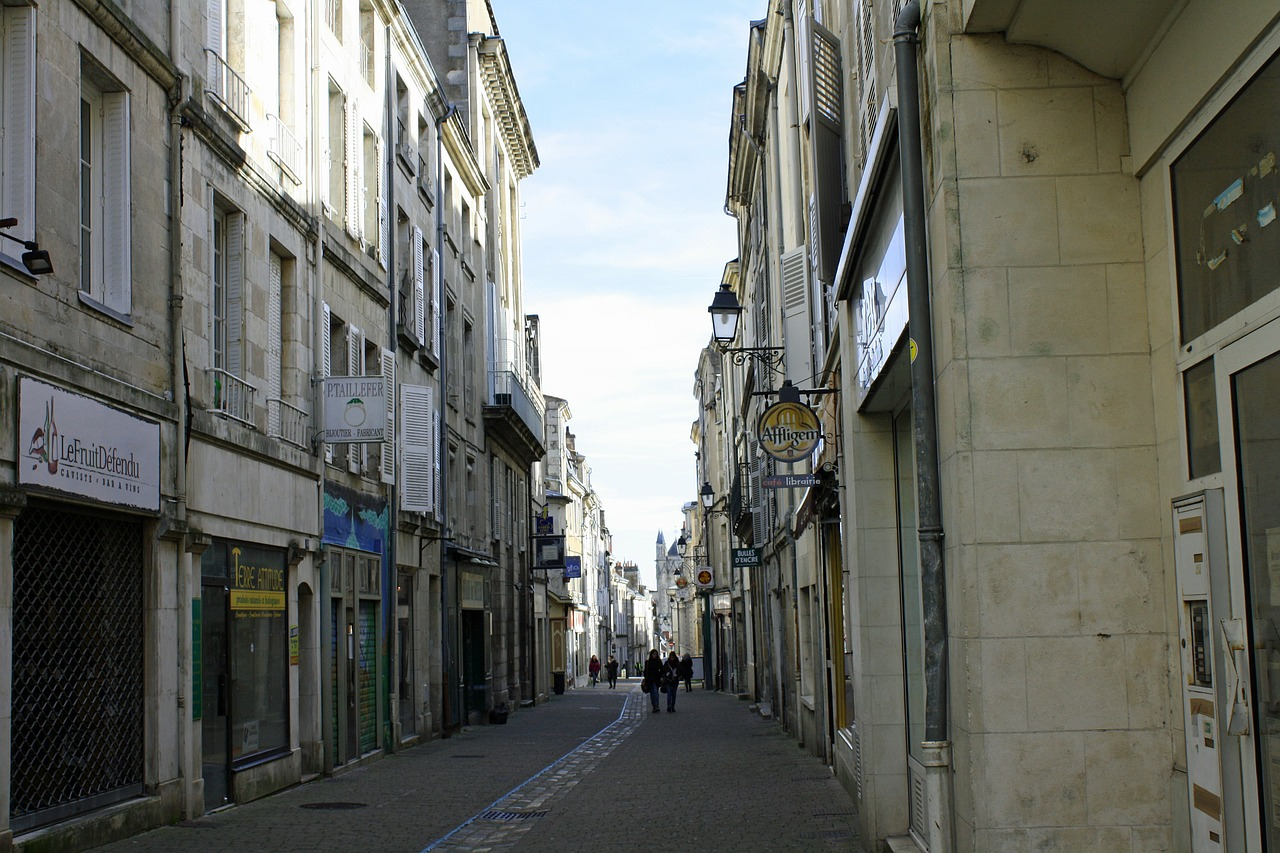 city street narrow street street france free photo