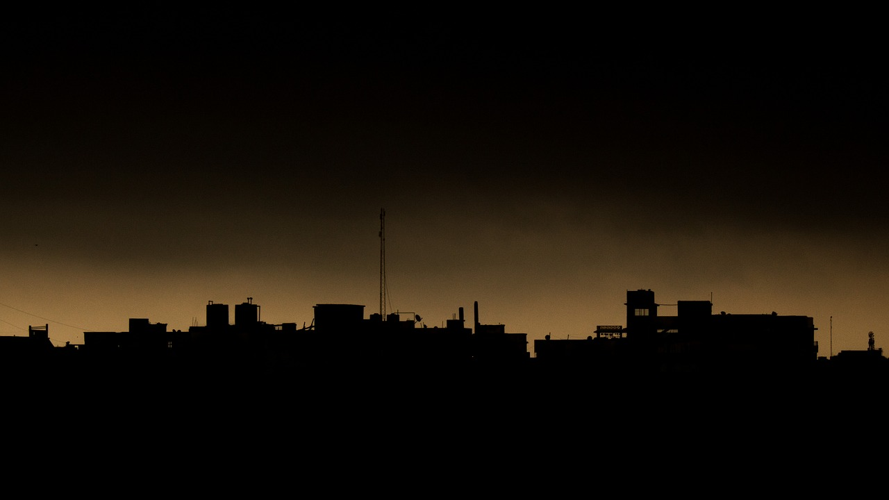 cityscape dark night in day free photo