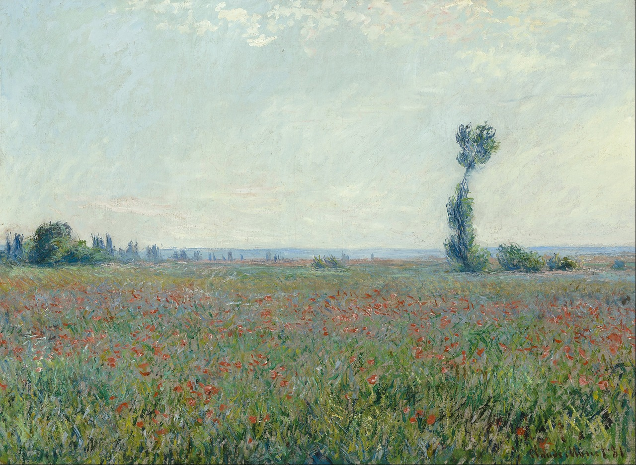claude monet painting oil on canvas free photo