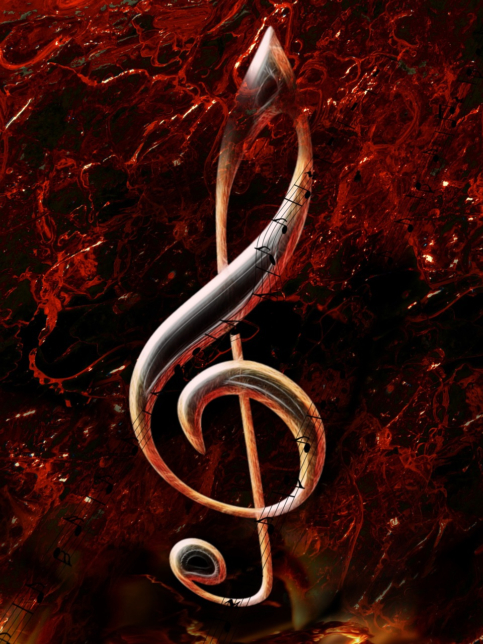 clef,composing,treble clef,music,flame,light effect,embers,swing,photo art,free pictures, free photos, free images, royalty free, free illustrations, public domain