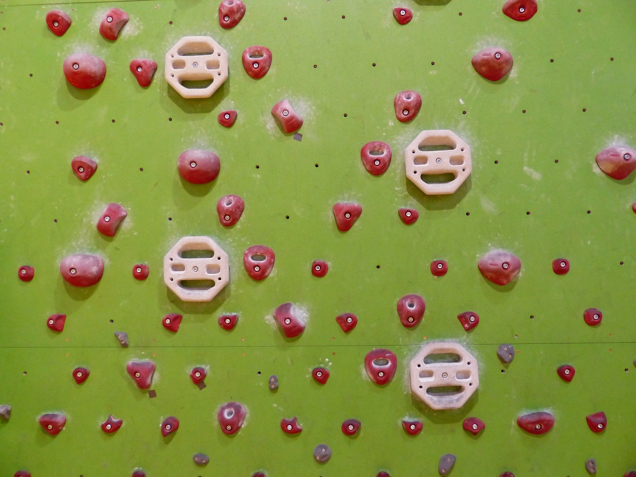 climbing holds red exercise wall free photo