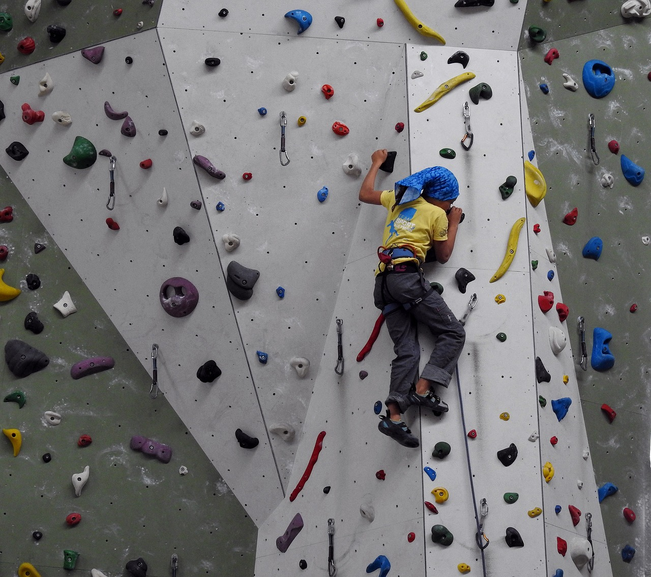 climbing wall climbing hall climb free photo