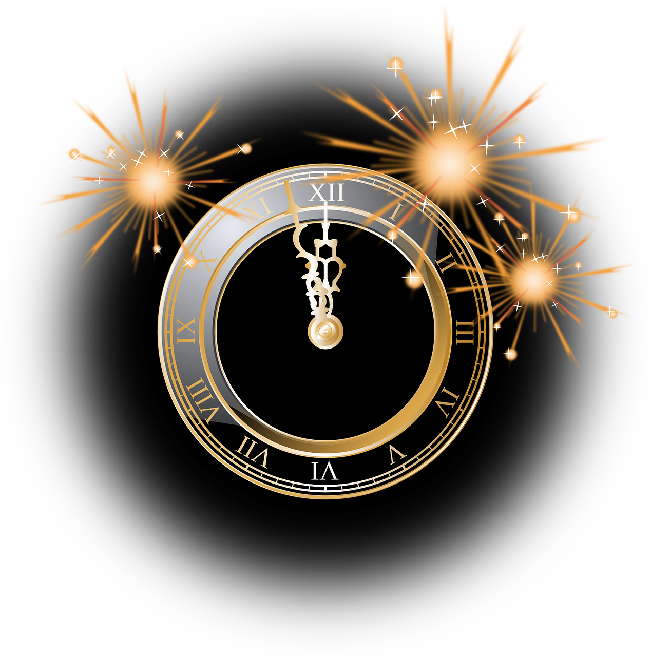 clock,firework,silvester,twelve o'clock,twelve,midnight,fireworks,explosion,sylvester,free vector graphics,free pictures, free photos, free images, royalty free, free illustrations, public domain