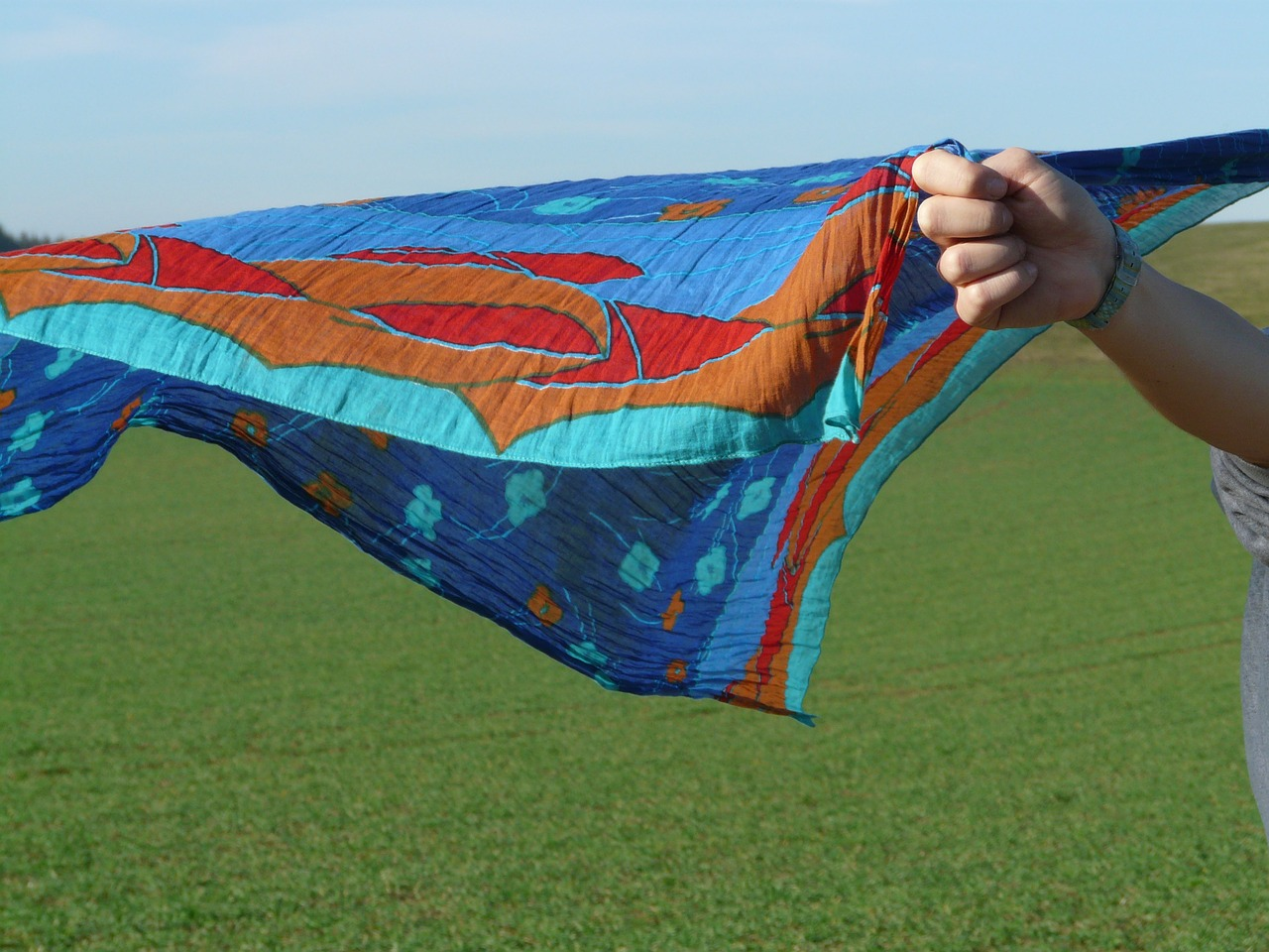 cloth scarf wind free photo