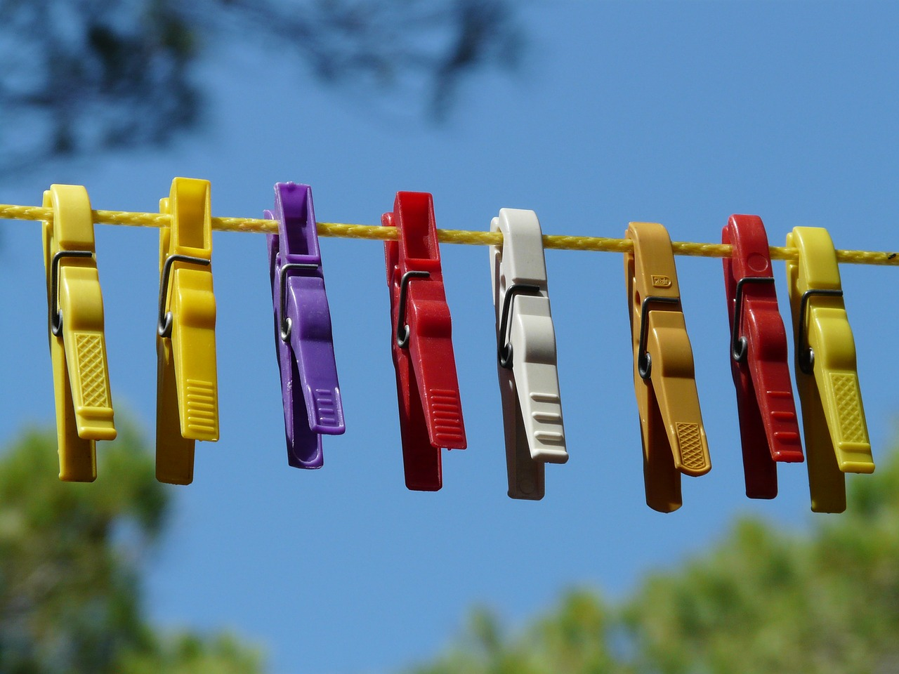 clothespins clothes line dry free photo