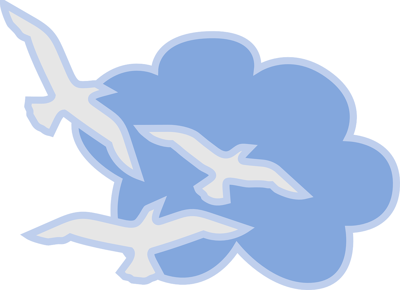 cloud,blue,white,sky,birds,flying,doves,fly,free vector graphics,free pictures, free photos, free images, royalty free, free illustrations, public domain