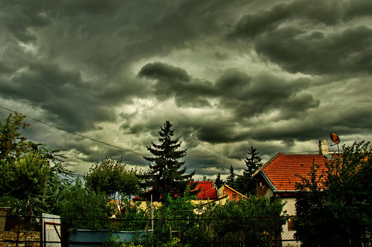 cloudy stormy sky free photo