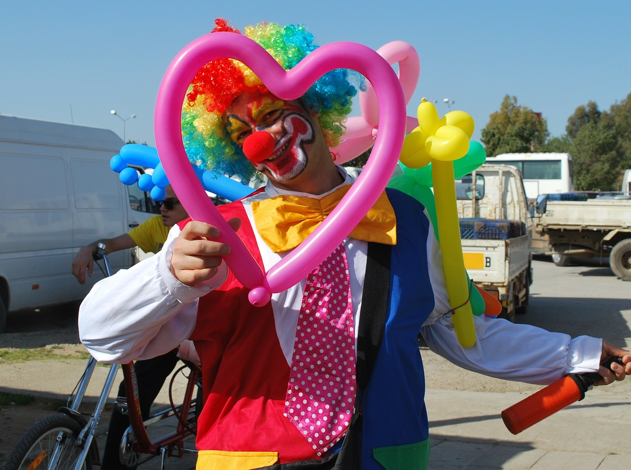 clown funny smile free photo