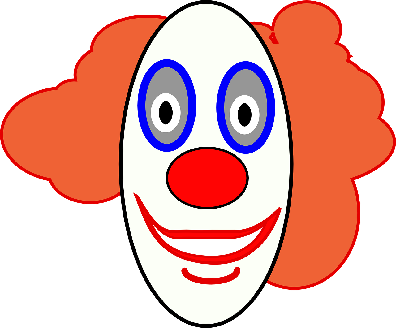 clown face smiley free photo