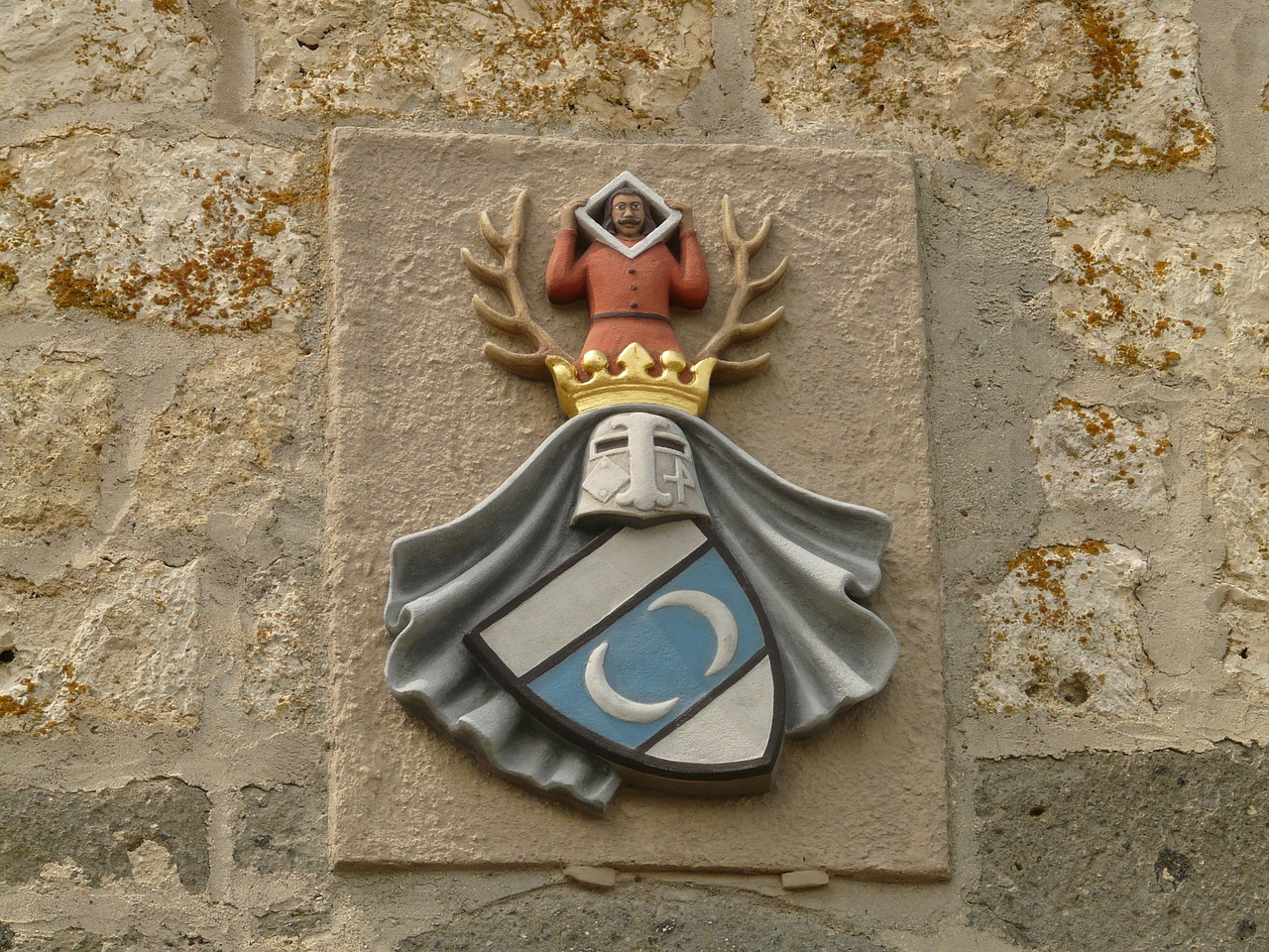 coat of arms castle knight free photo