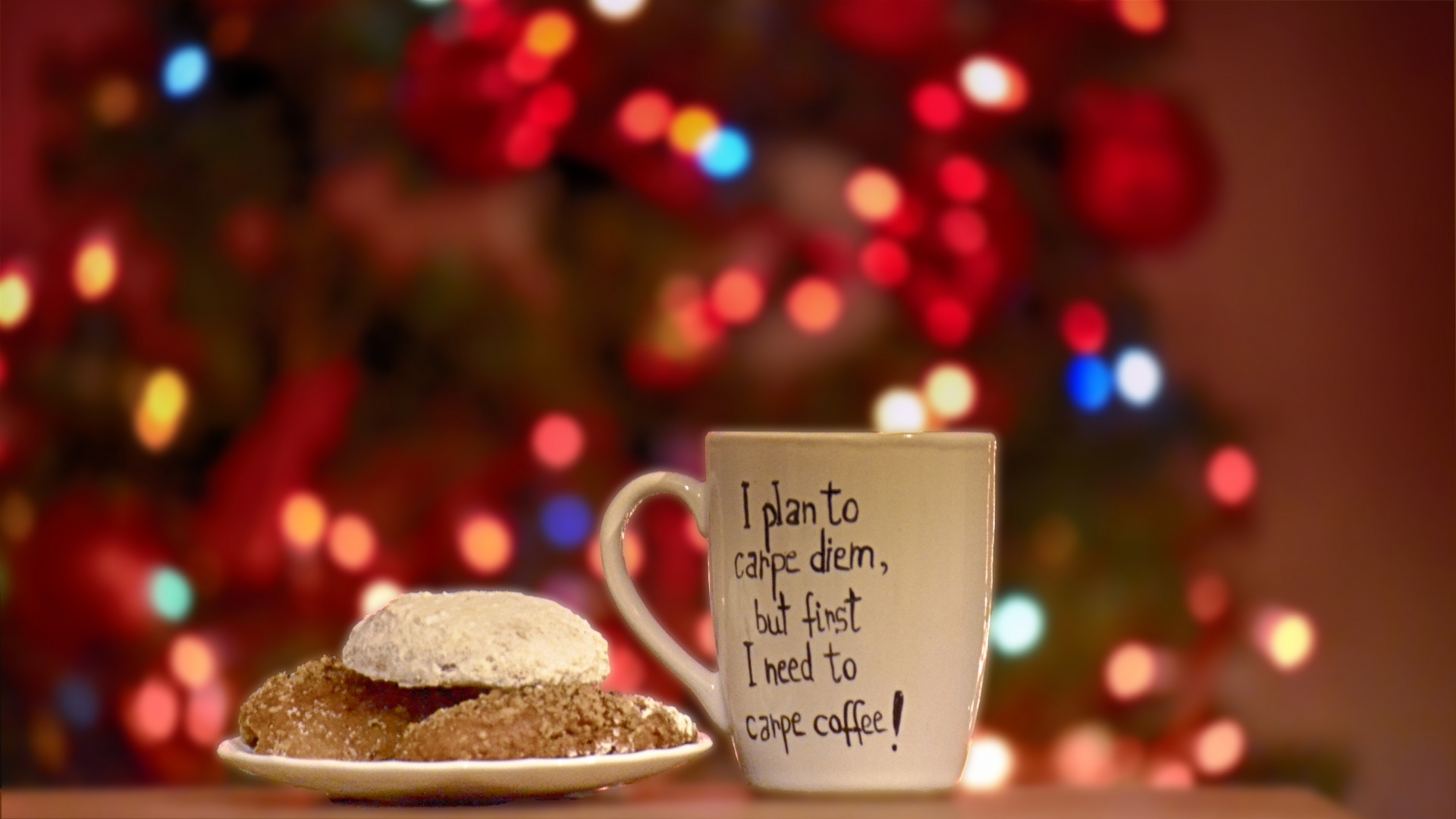 Tree Lights Christmas Coffee Cup Cookies Free Image From Needpix Com