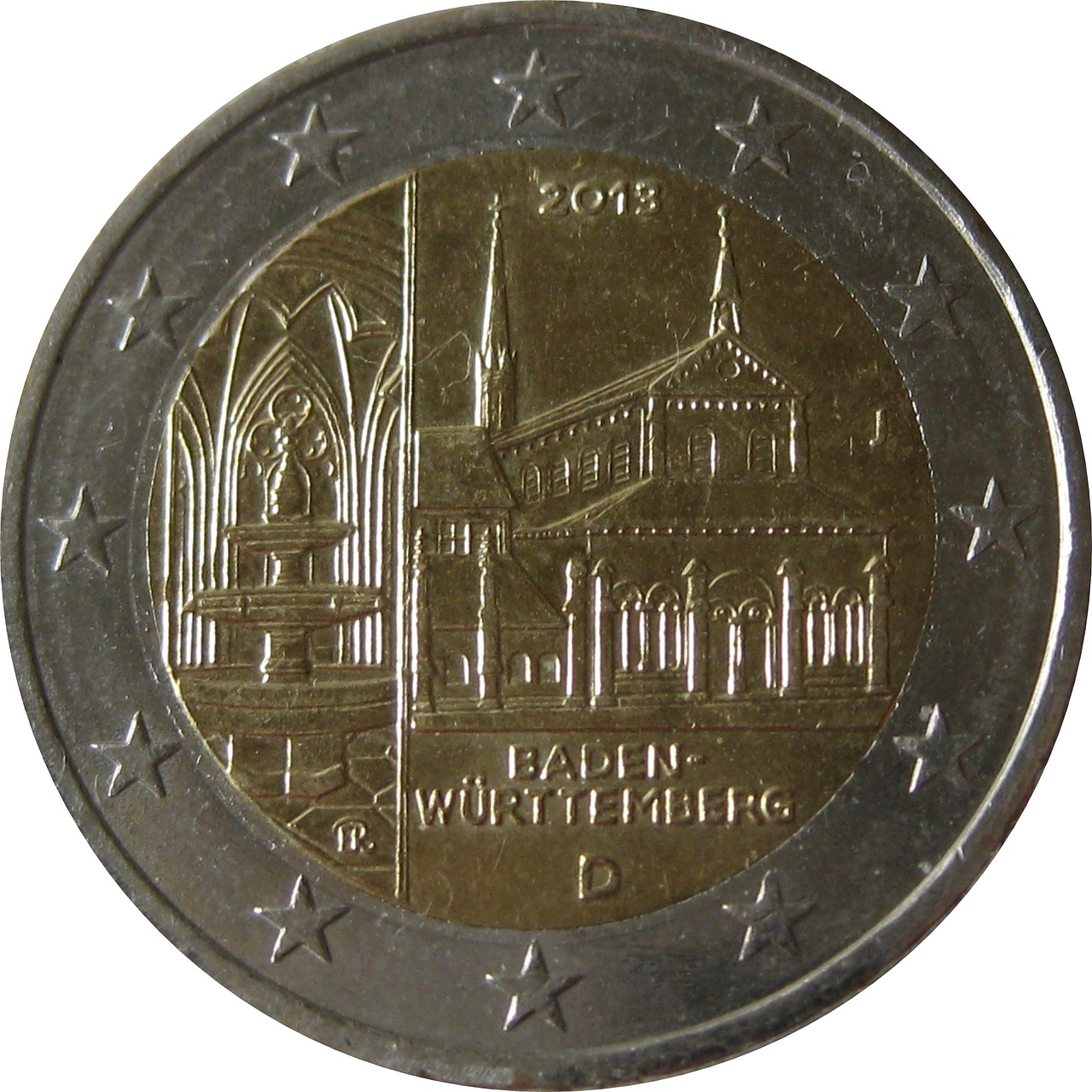 coin 2 euro baden würtemberg free photo