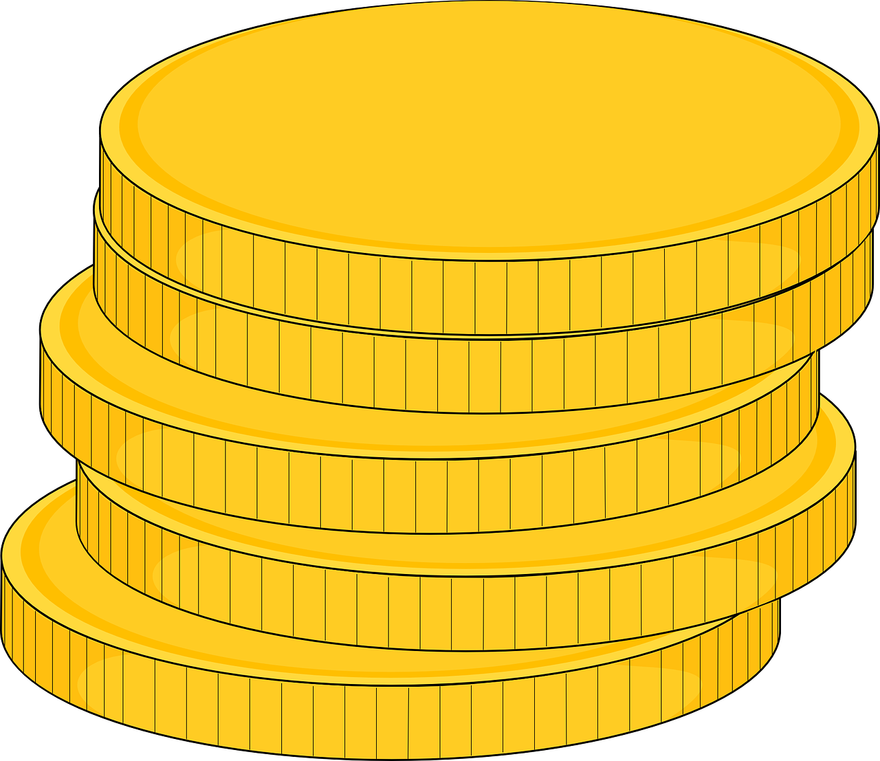 coins gold stacked free photo