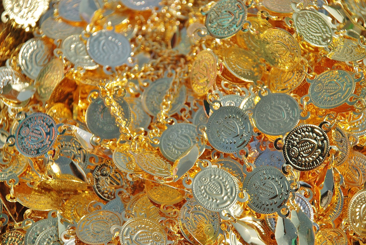 coins gold chains free photo