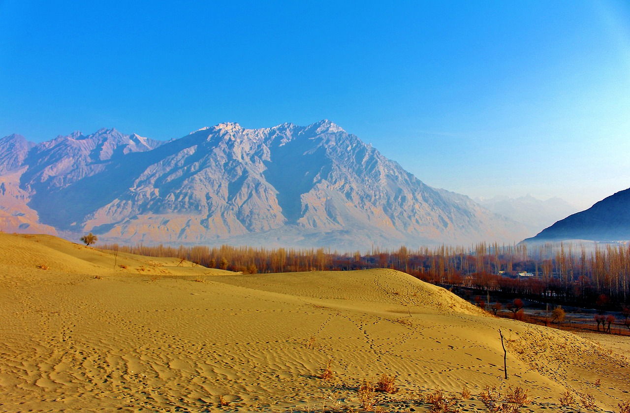 cold desert,katpana desert,sand dunes,indus river,khaplu valley,largest cold desert area,shigar desert,25 °c in december,cold winds,pakistan,skardu,sand,nature,adventure,karakorum,mountain,clouds,lovely,inspiring,himalaya,hill,landscape,free pictures, free photos, free images, royalty free, free illustrations, public domain