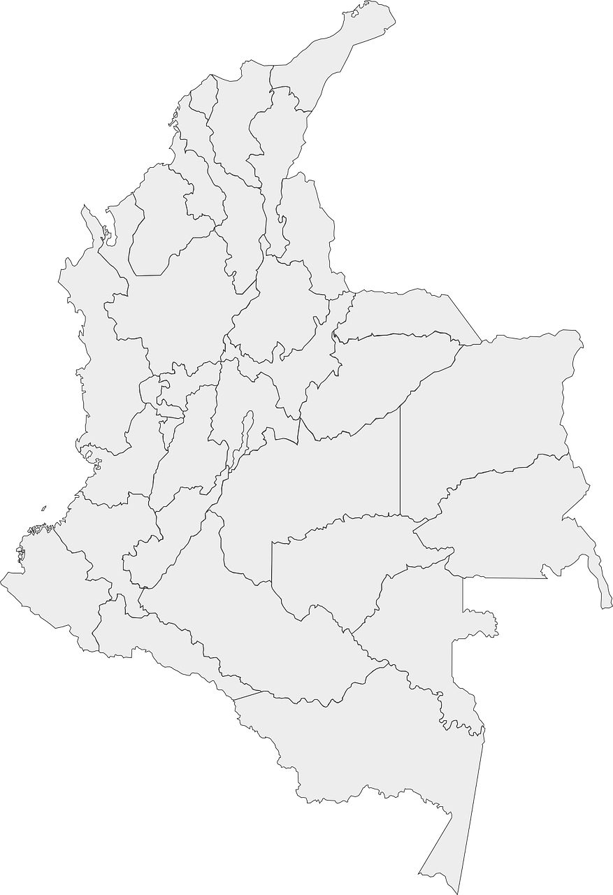 colombia map geography free photo