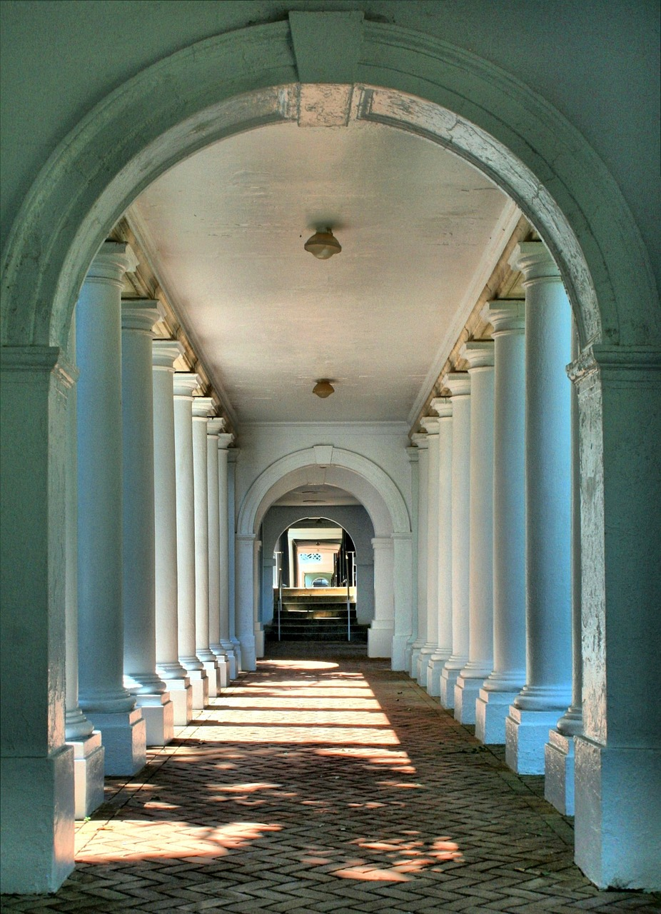 colonnade walkway breezeway free photo
