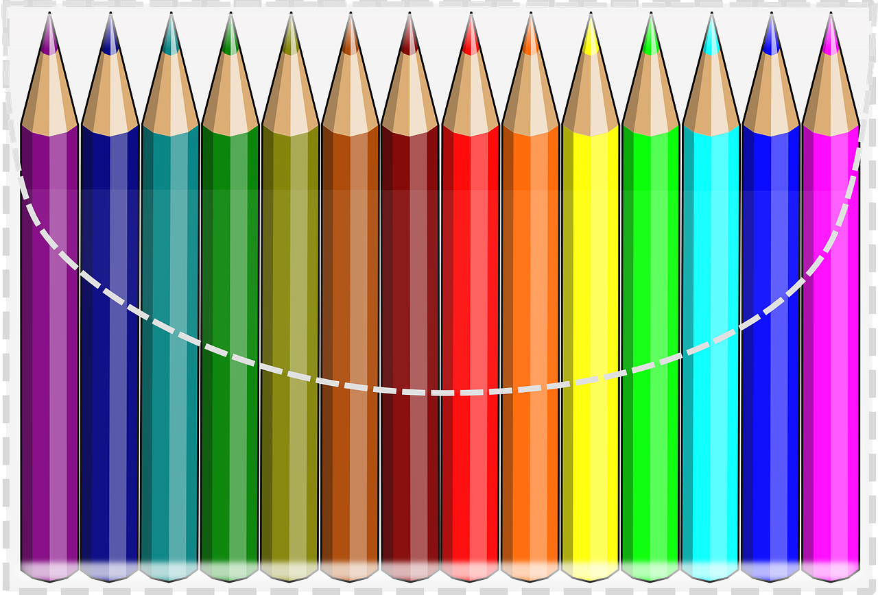 color pencils colourful crayons free picture