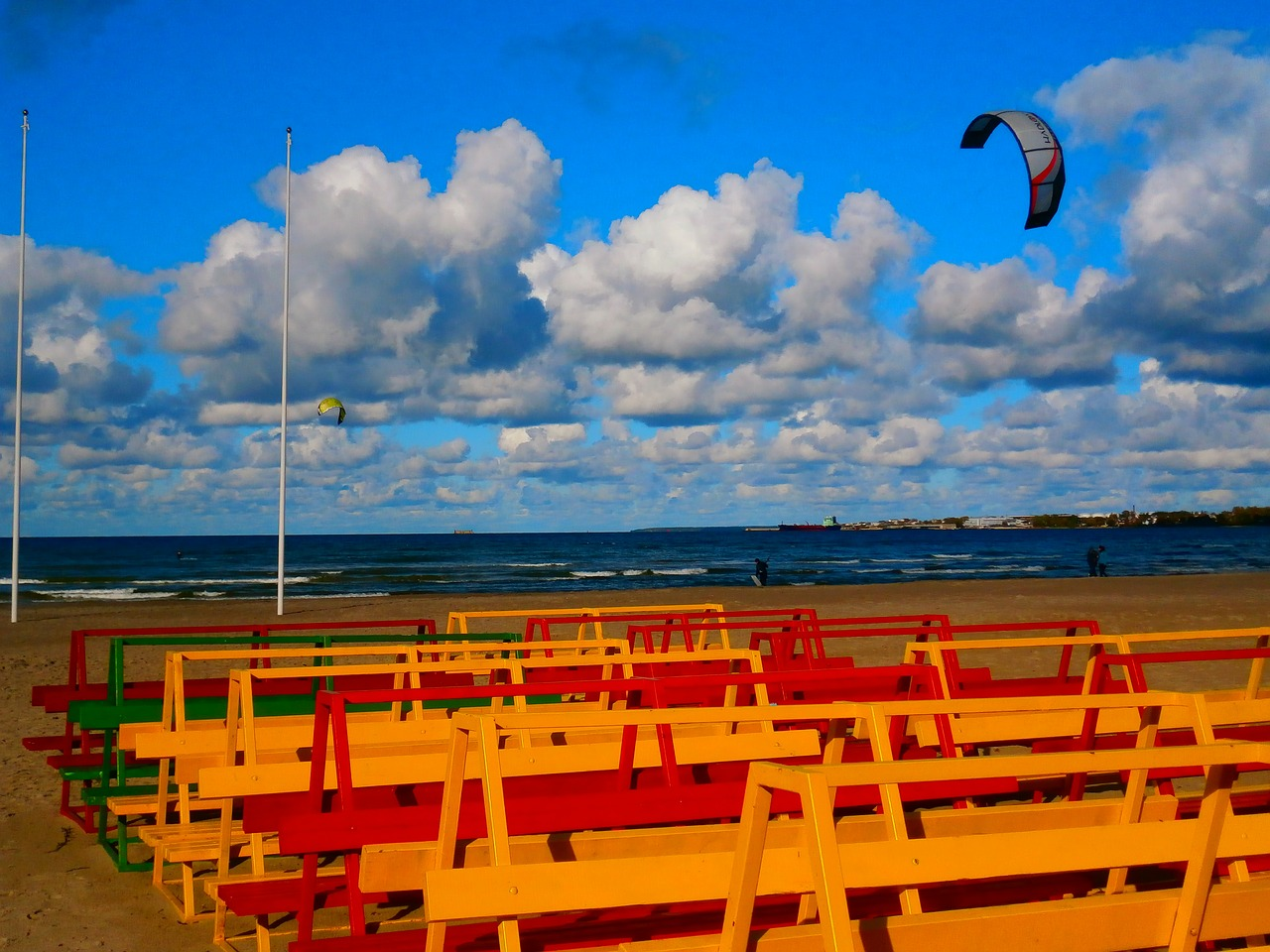 colorful beach sky free photo