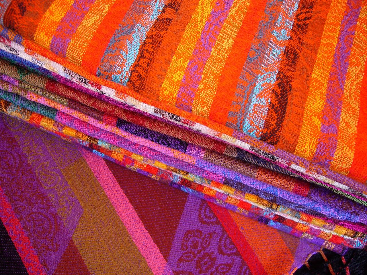 colorful fabric colourful fabric cloth free picture