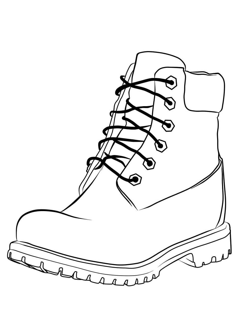 Coloring,shoes,shoe,black and white,line - free image from ...