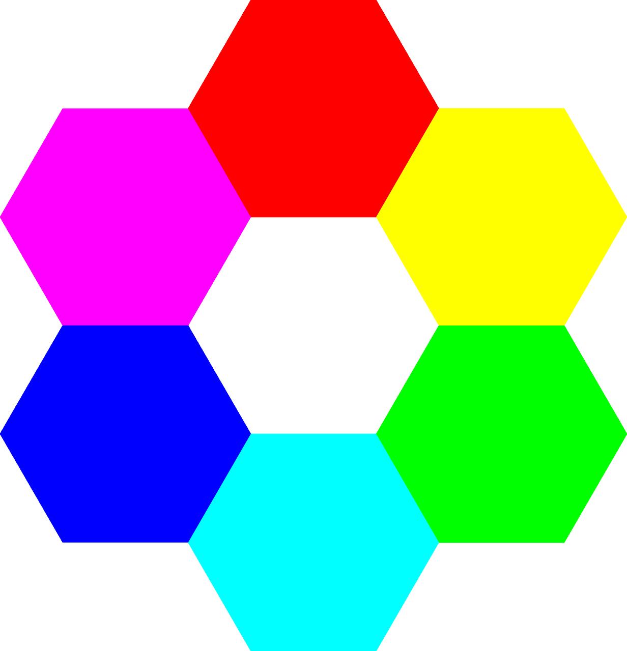 Colors Hexagon Symmetry Rainbow Colors Free Vector Graphics Free Image From Needpix Com