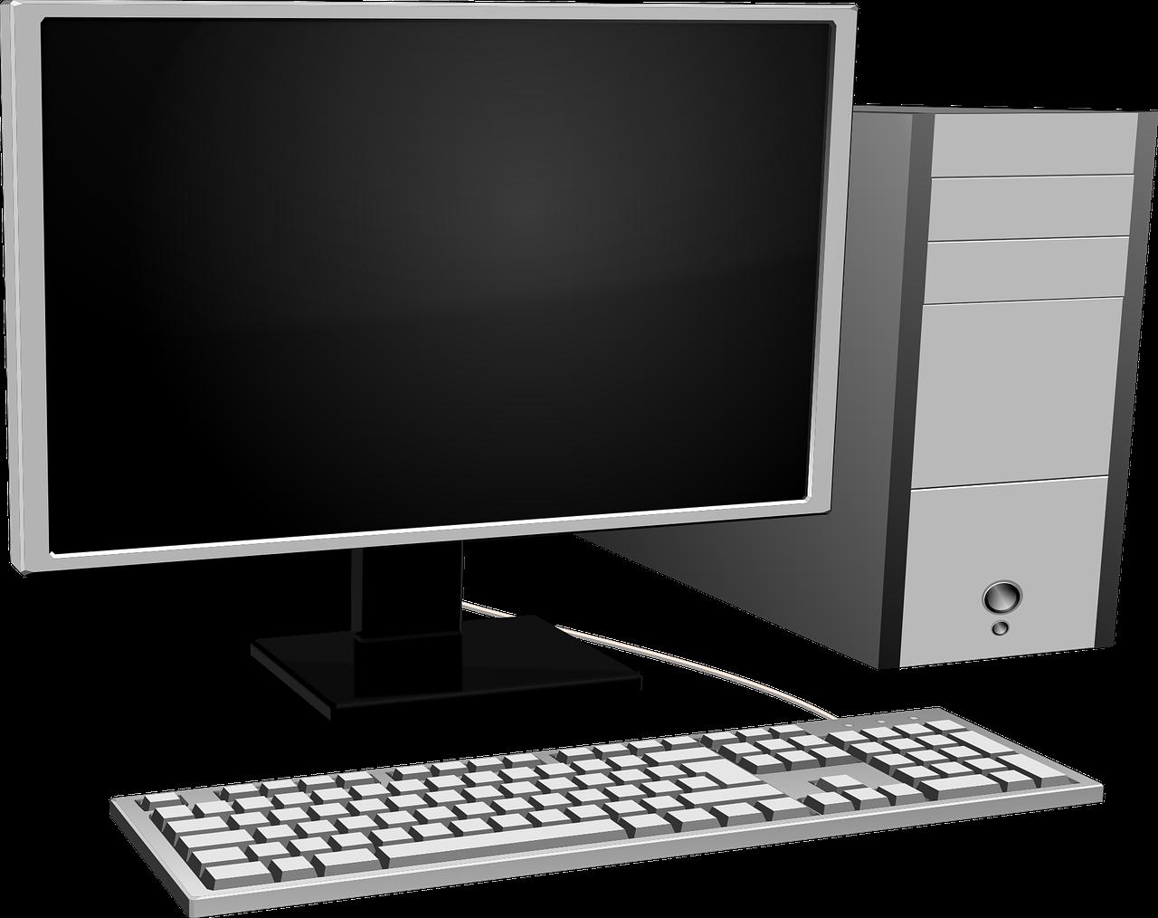 Computer,crystal display,gray,hardware,keyboard - free photo