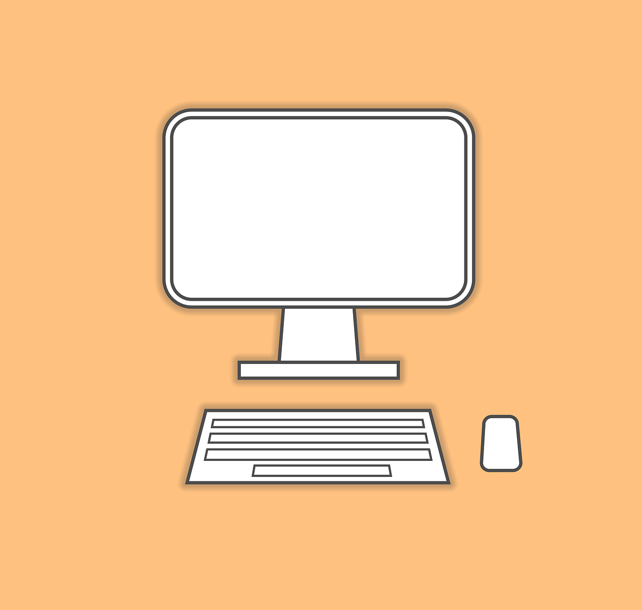computer,monitor,keyboard,mouse,line drawing,flat,basic,line,white,modern,computer monitor,display,technology,screen,desktop,office,equipment,computer screen,business,digital,electronic,work,blank,tech,device,free pictures, free photos, free images, royalty free, free illustrations